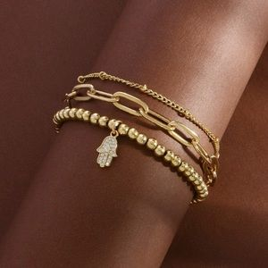 14K Gold Beaded Bracelets